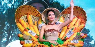 Hoa hậu H'Hen Nie diện trang phục bánh mỳ