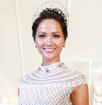 Hoa hậu H'Hen Nie mang áo in tên mình đến miss universe