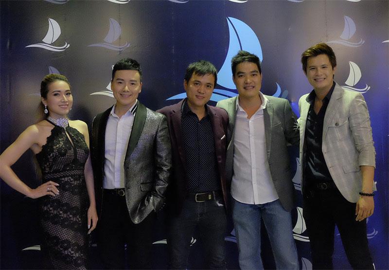 Ca sĩ Tina Ngọc Nữ, Nguyễn Hoàng Nam, MC Quốc Dũng, Đạo diễn Lê Tới và Ca sĩ Lee Thiên Bảo