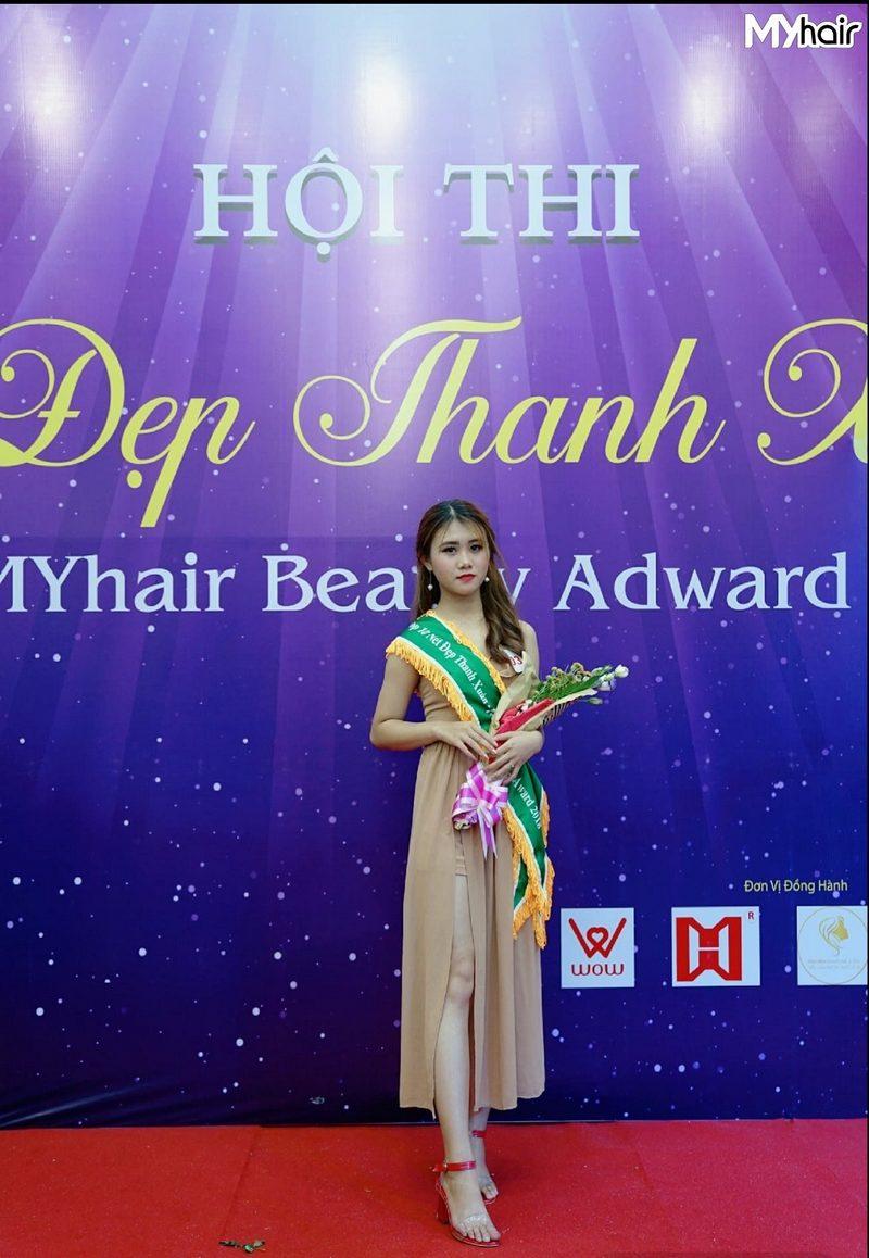 """tham gia cuộc thi """"Nét Đẹp Thanh Xuân"""" do MYhair tổ chức và xuất sắc đạt giải top 10"""