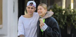 Justin Bieber đẹp trai, tình tứ khoác vai vợ mới cưới đi ăn trưa