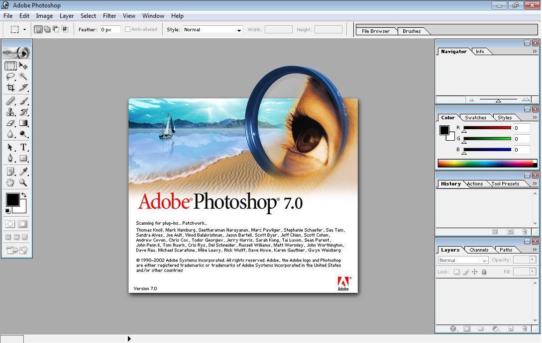 Photoshop 7.0 ra đời năm 2002
