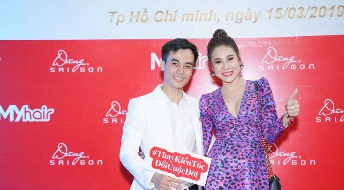 Hồ Bích Trâm xuất hiện xinh đẹp tại sự kiện khai trương salon tóc Dũng Sài Gòn - MYhair