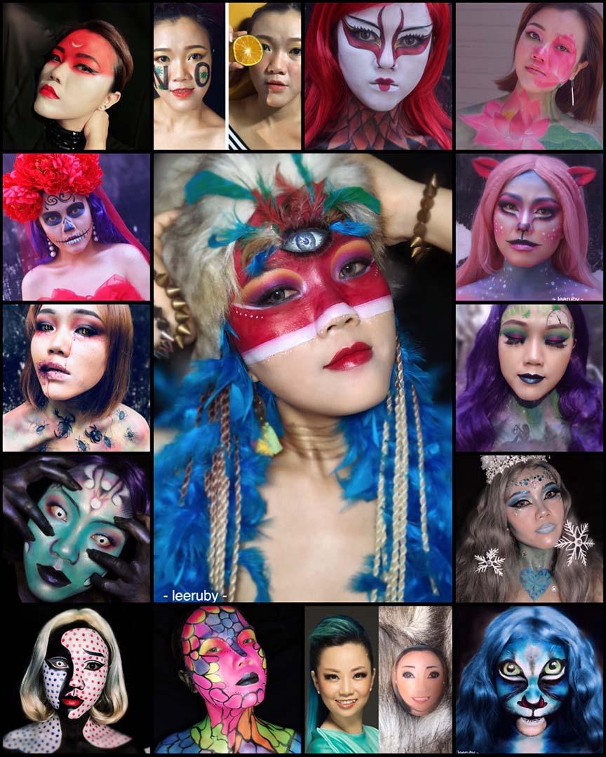 Phù thuỷ makeup Lee Ruby cùng một số tác phẩm