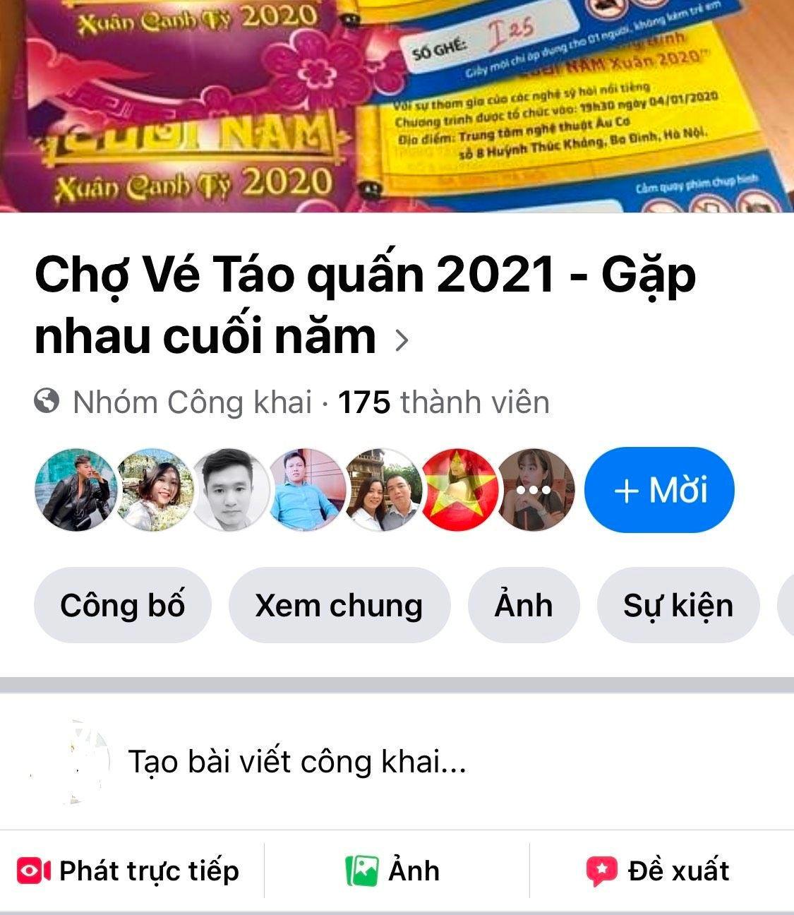 Vé Táo quân 2021 được bán tràn lan trên các chợ mạng