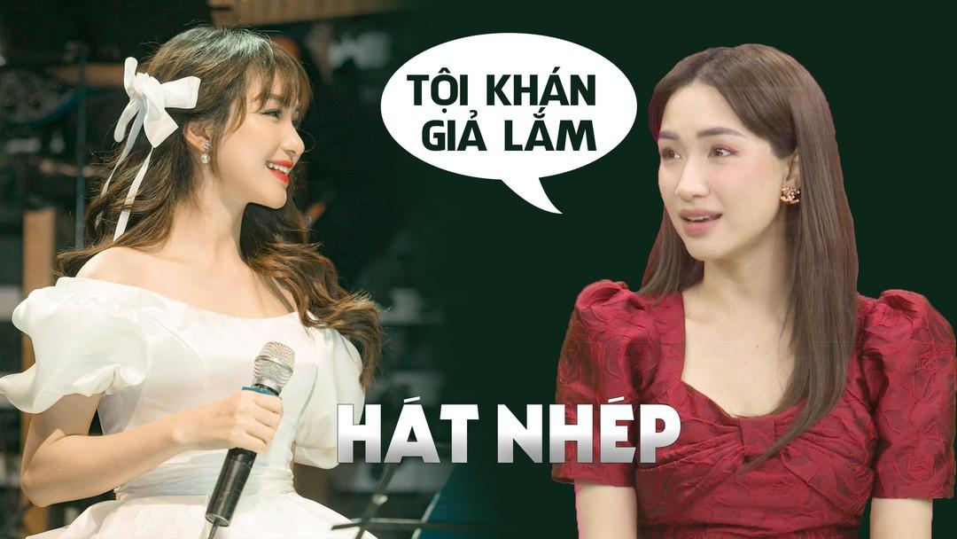 """Hòa Minzy chia sẻ quan điểm không ủng hộ nghệ sĩ hát nhép vì đó là """"lừa dối"""" khán giả"""