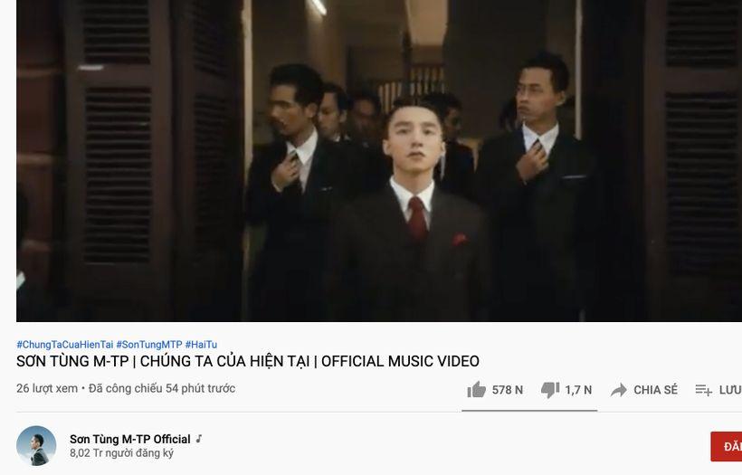 MV của Sơn Tùng cán mốc lượt xem khủng với nhiều thành tích chỉ sau một thời gian ngắn đăng tải