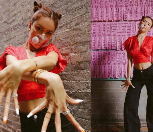 Siêu mẫu Minh Tú bị chỉ trích khi mang áo hở rốn đi chùa