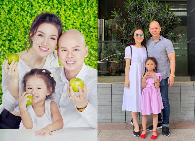 Khoảnh khắc hạnh phúc của vợ chồng Phan Đinh Tung cùng cô con gái đầu lòng