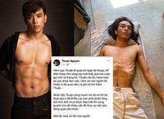 Thuận Nguyễn lên tiếng đính chính thông tin liên quan tới bức hình gầy trơ xương của mình