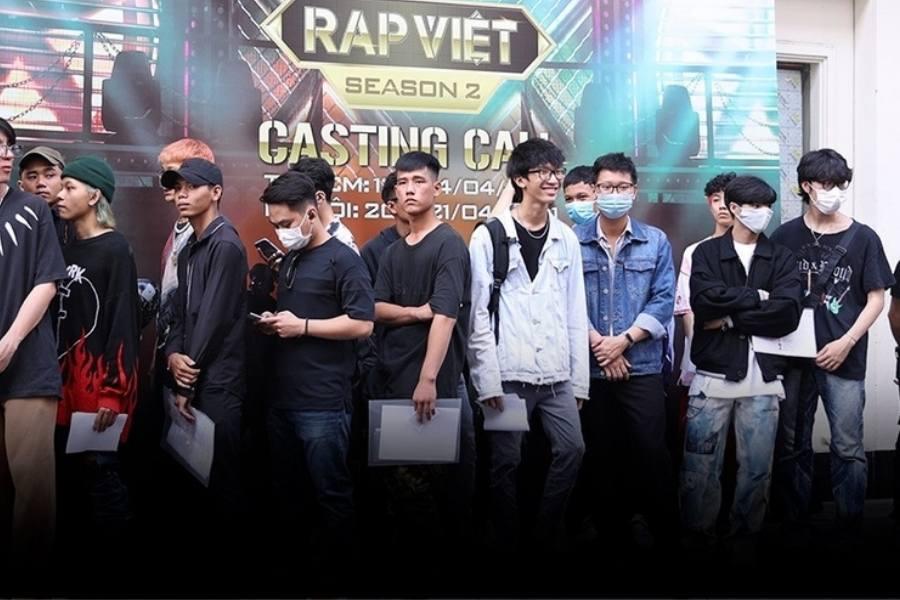 Dàn thí sinh tham gia casting Rap Việt