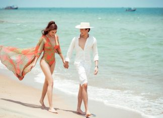 Anh Dũng và Trương Ngọc ánh tình tứ trên bãi biển