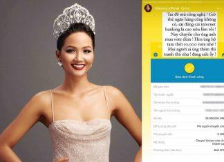 Hen Niê ủng hộ Khánh Vân bằng 22 triệu tiền bình chọn