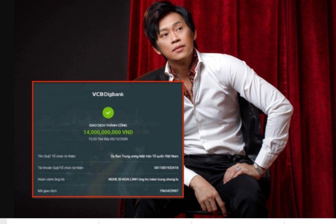 Hình ảnh chuyển khoản 14 tỷ của nghệ sĩ Hoài Linh hoàn toàn không đúng sự thật