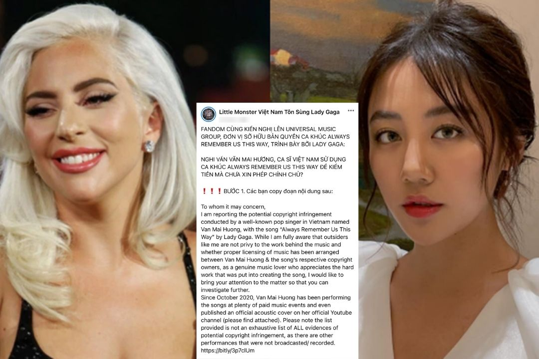 Cộng đồng fan của Lady GaGa tại Việt Nam liên tục tố cáo Văn Mai Hương không xin phép chủ sở hữu Always Remember Us This Way