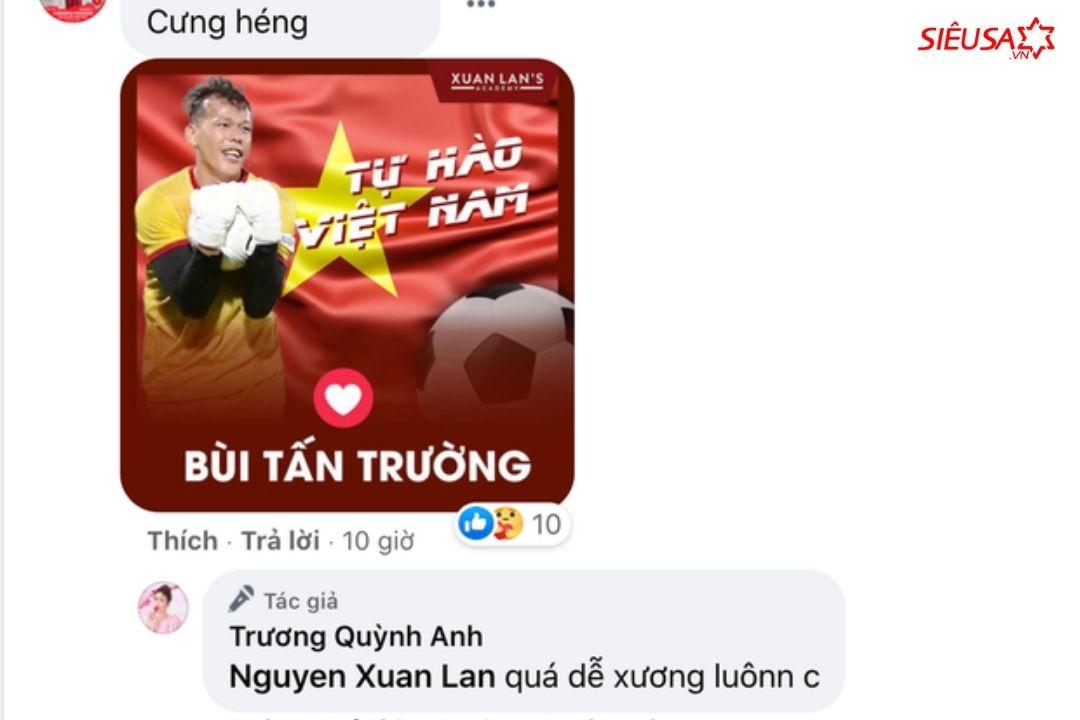 Xuân Lan và Trương Quỳnh Anh còn nhận được câu trả lời dí dỏm của chính chủ