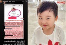 Hòa Minzy tố cáo tái khoản giả mạo tài khoản bé Bo