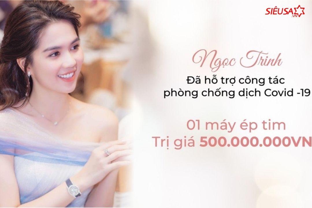 Ngọc Trinh tặng máy ép tim 500 triệu cho bệnh viện Chợ Rẫy