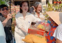 Ngọc Trinh âm thầm làm từ thiện trong mùa dịch