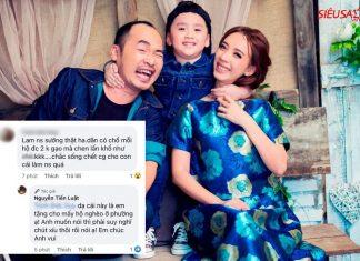 Khán giả mỉa mai việc từ thiện của gia đình Tiến Luật - Thu Trang